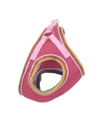 Lil Pals Mesh Comfort Mesh Adjustable Step-in Dog Harness for Puppies and Toy Breeds (Pink, Petite Small)