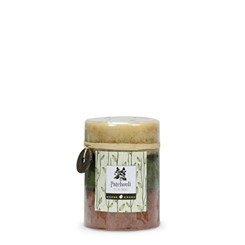 Goose Creek 3 by 4-Inch Patchouli Three Pour Pillar Candle