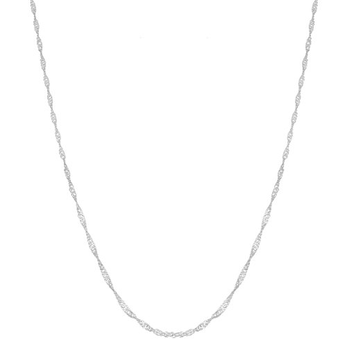 Sterling Silver 1.3mm Singapore Chain (14, 16, 18, 20, 22, 24, 30 or 36 inch)
