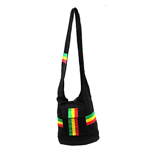 Rasta Shoulder Purse Sling bag Tote bag by Cydraend