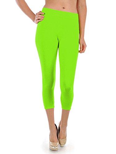 Energi Capri Leggings Tights (Free, Lime)