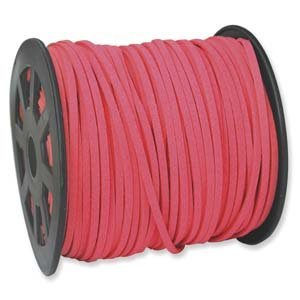 HOT PINK Faux Leather Suede Necklace Cord 10 Feet Ultra Microfiber