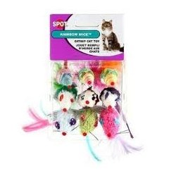 Ethical Pet Products Catnip Rainbow Mice Spot Nips Rainbow Mice 9Pk Scratchers and Toys