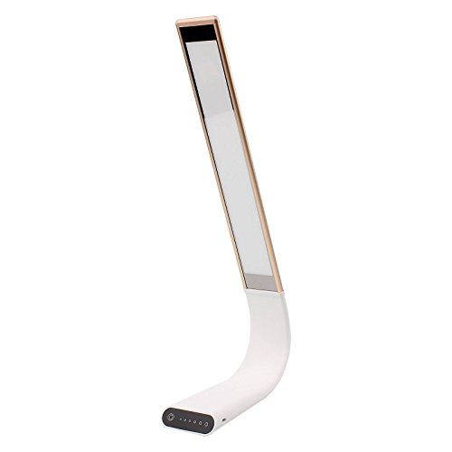 SOLMORE Dimmable Touch LED Desk Lamp / Night Light Touch-Sensitive Control Panel USB Charging Port For Reading/Studying/Relaxation/Bedtime gold