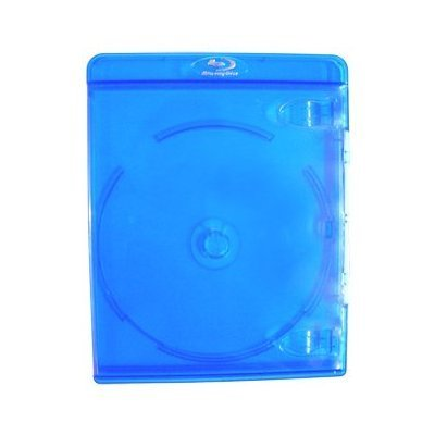 10 Empty Deluxe Blu-ray Replacement Cases for Blue-ray Disc Movies 11mm thickness with silver embossed logo