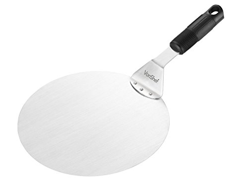VonShef Stainless Steel Cake Lifter, Pizza Peel, 10 Inch Diameter - For Cakes, Pizzas, Pies, Tarts