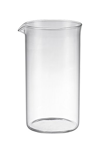 SterlingPro 1000ml 34-ounce 8 cup UNIVERSAL French Coffee Press GLASS REPLACEMENT BEAKER (Fits SterlingPro and the other 8 cup French Press)