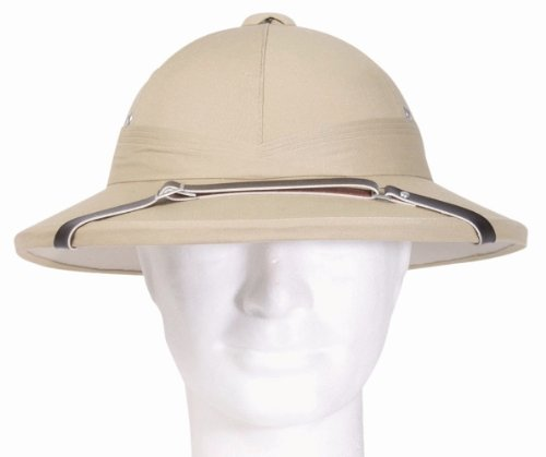 French Army Tropical Pith Helmet in British Khaki
