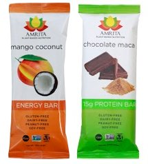 Amrita Protein Bars 24 Pack: Mango Coconut + Chocolate Maca