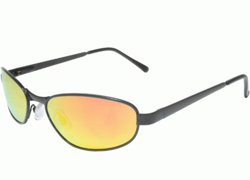 G&G Mirrored Polarized Sunglasses Metal Frame Spring Temple