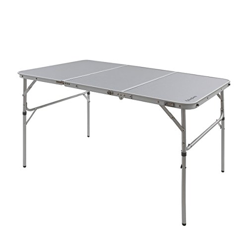 Kingcamp® 3-Fold Aluminum Table - Easy Assembly, Stable, Samll Packing Size, Aluminum Lightweight Camping Table