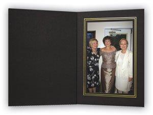 Cardboard Photo Folder - 5x7 - Pack of 100 Black / Gold