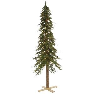 Vickerman 31652 - 6' x 20 Rocky Mountain Alpine 250 Clear DuraLit Miniature Lights Christmas Tree (G137161)