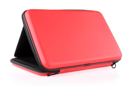 iRulu High Quality Creative Universal Foldable PU Leather Case with speaker Sounder For 10 inch 16:9 Tablet, Red