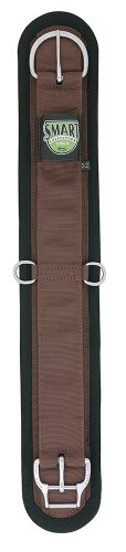 Weaver Leather Felt Lined Straight Smart Cinch with New and Improved Roll Snug Cinch Buckle, Brown, 26-Inch