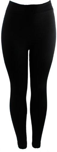Energi Full Length Leggings Fleece or Faux Fur Lining (Free Size, Black-FauxFur)