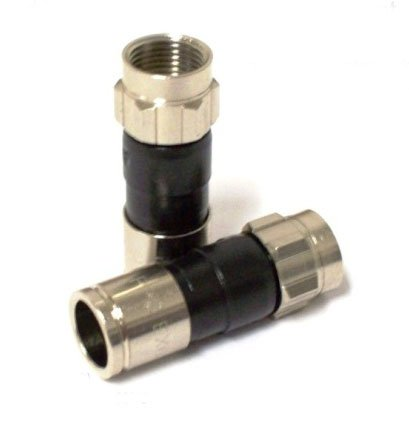 PPC Ex6xlPlus Rg6 Snap & Seal Outdoor Coax Compression Connectors Qty:50 Comcast, DTV and Dish Approved