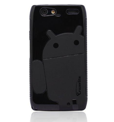 Black - Cruzer Lite Androidified A2 High Gloss TPU Soft Gel Skin Case - For DROID RAZR MAXX [Cruzer Lite Retail Packaging]