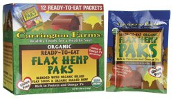 Ready-To-Eat Organic Flax Hemp Paks 12 Pkts