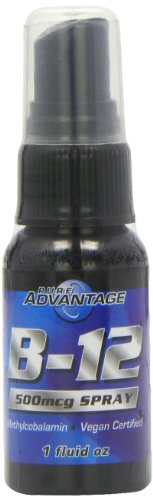 Pure Advantage B-12 Vitamin Methylcobalamin Vegan Spray