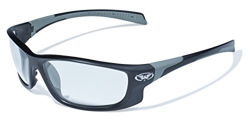 Global Vision Eyewear Hercules 5 Safety Glasses with Matte Black Frames and Clear Lenses