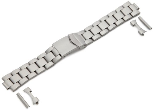 Hadley-Roma Men's MB5919RTIS&C 20 20-mm Titanium Finished Stainless Steel Watch Strap