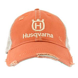 New Husqvarna ORANGE DISTRESSED hat, lawnmower, motorsports