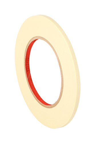 TapeCase 201+ 0.25 x 60yd General Use Masking Tape-Converted from 3M 201+, 0.25 x 60 Yards Roll, Crepe Paper, Natural