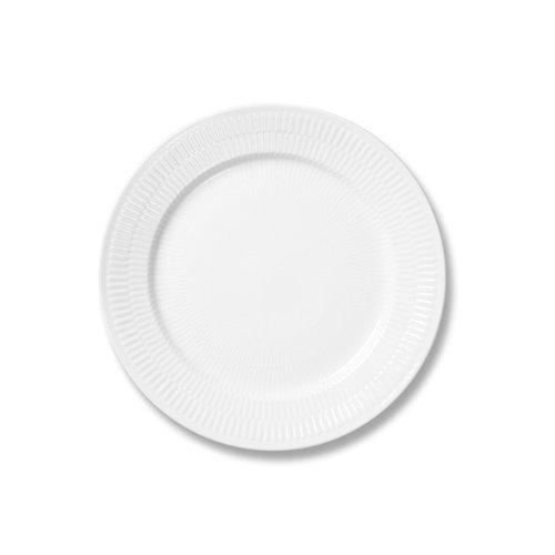 Royal Copenhagen White Fluted Salad/Dessert Plate 9 in