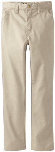 Eddie Bauer Big Boys' Uniform Brushed Twill Straight Leg Pant, Khaki, 10