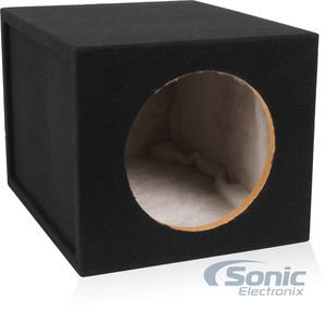 1.2 Cu Ft - Single 10 Sealed MDF Subwoofer Enclosure (Belva MDFS1012) 10-inch Sealed Car Sub Box Made with 3/4 MDF and lined w/ Polyfil (1.2 cu ft airspace 10SQTC)