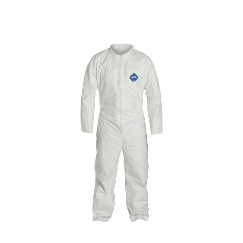 DuPont TY120S Disposable Tyvek White Coverall Suit 1412, Size XXLarge, Sold by the Each