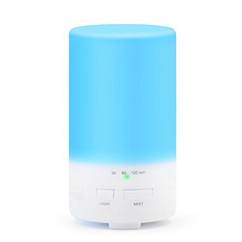 InnoGear 50ml USB Powered Essential Oil Diffuser Mini Portable Quiet Aroma Humidifier Aromatherapy Ultrasonic Cool Mist Timer Color Changing Lights For Laptop Office Computer Car Home Bedroom