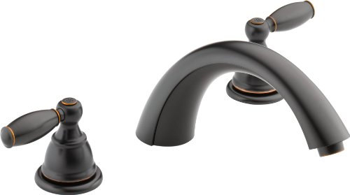 Peerless PTT298696-OB Apex Two Handle Roman Tub Trim, Oil Rubbed Bronze (Valve Not Included)