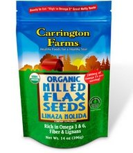 Carrington Farms Organic Milled Flax Seed, 14 Ounce -- 6 per case.