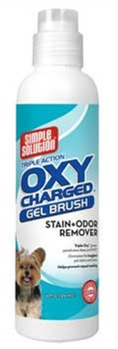 Simple Solution Oxy Charged Stain and Odor Remover, Gel Brush, 16-Ounces