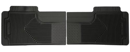 Husky Liners 52011 Semi-Custom Fit Heavy Duty Rubber Rear Floor Mat - Pack of 2, Black