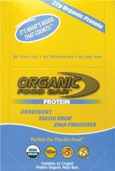 Organic Food Bar Protein -- 12 Bars