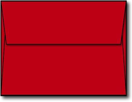 Red A2 Envelopes, 5 3/4 x 4 3/8 - 100 Envelopes - Desktop Publishing Supplies™ Brand Envelopes
