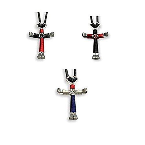 Multi-Colored Horseshoe Nail Crosses - You Pick Colors!