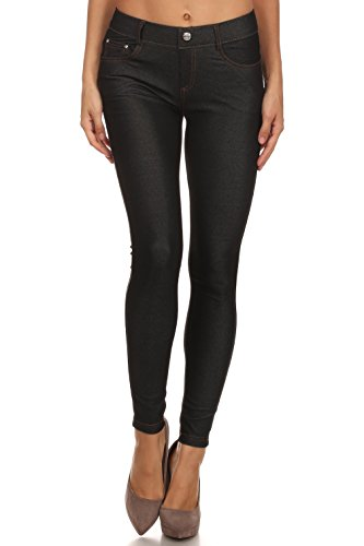 Long Jeggings for Women Skinny Stretch Fitted Pull On Jeggings Pants, Pockets
