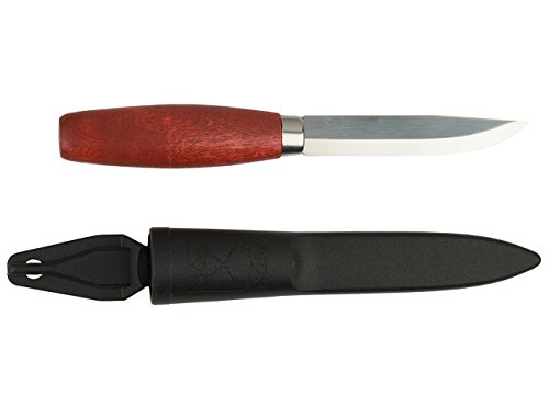 Morakniv Classic No 1 Wood Handle Utility Knife with Carbon Steel Blade, 3.9-Inch