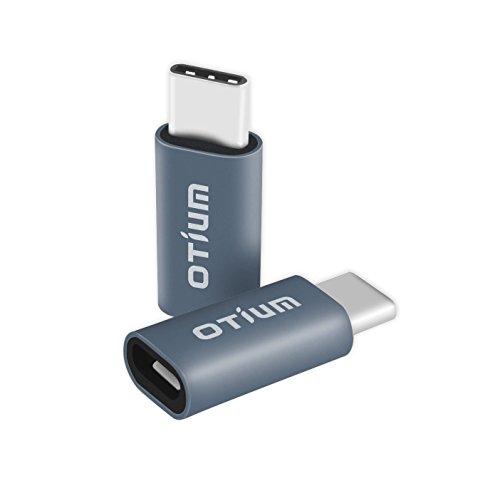 Otium® USB C Adapter USB-C to Micro USB Adapter Female Convert Connector for New Mackbook 12, Google Chromebook Pixel, Nexus 5X / 6P and More Gray (2 pack)