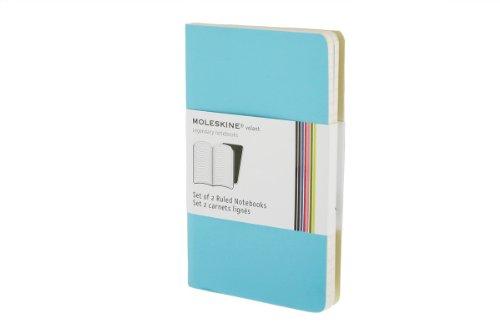 Moleskine Volant Notebook (Set of 2 ), Pocket, Ruled, Blue (3.5 x 5.5)