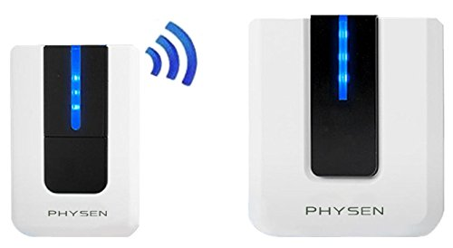 PHYSEN Stylish Design Learning Mode Wireless Doorbell Kit with 1 Door Chime and 1 Push Button, Up to 900ft Wireless Distance,Built-in 52 Classic Melodies (Piano Key)