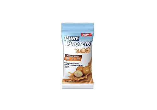 Pure Protein Crunch Peanut Butter, 1 Pack of 6 Little Pouches (Pack of 2)