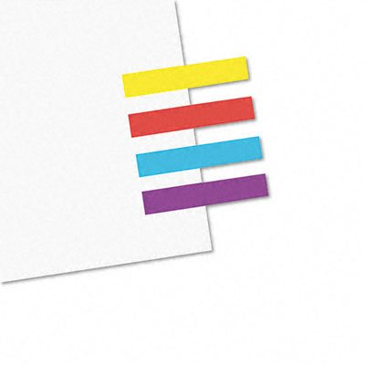 Redi-Tag 20205 Small Rectangular Remove/Reusable Page Flags, 1x3/16, Assorted, 3,600/Bulk Pack