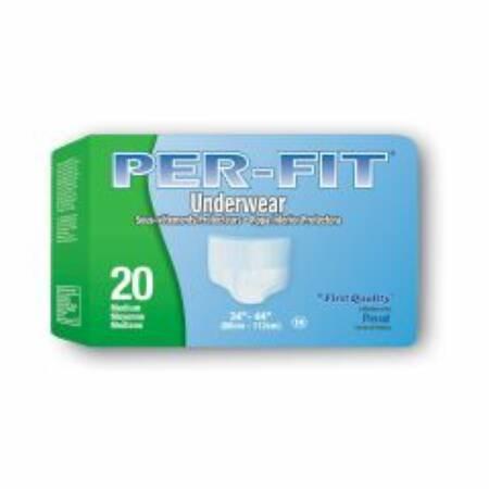 Prevail Per-Fit Underwear: Extra Absorbency, Medium, 80 ct