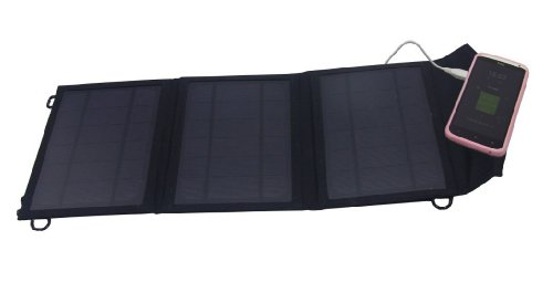 Expower® 10W Solar Panel Foldable Solar Charger for 5V USB-charged Devices Including GPS Units, iPhone, iPad, Android Phones and Android Tablets