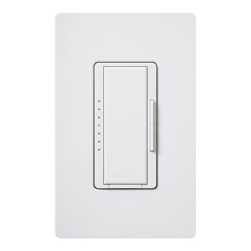 Lutron MAW600H-WH Electronics Maestro Duo Dimmer, White single pole switch
